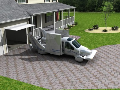 Flying car at home