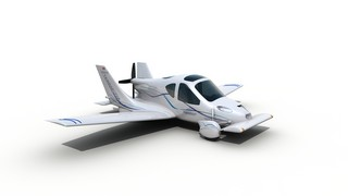 Flying Car with Wings Deployed